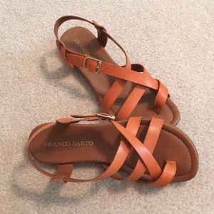 """Franco Sarto """"pumpkin"""" flat sandals. Size 7"""